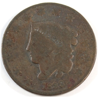 1833 USA Cent Very Good (VG-8)