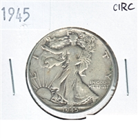 1945 USA Half Dollar Circulated