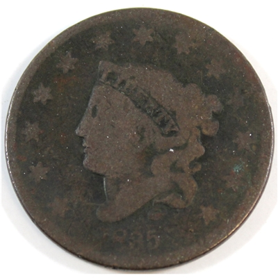1835 Large 8 Large Stars USA Cent About Good (AG-3)