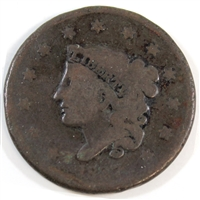 1837 Medium Letters USA Cent About Good (AG-3)