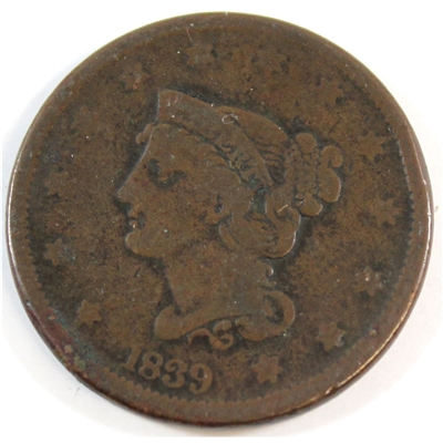1839 Type of 1840 USA Cent VG-F (VG-10)