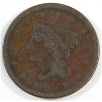 1840 Small Date USA Cent VG-F (VG-10)