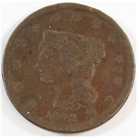 1842 Small Date USA Cent Very Fine (VF-20)