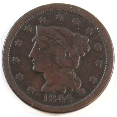1844 USA Cent F-VF (F-15) $
