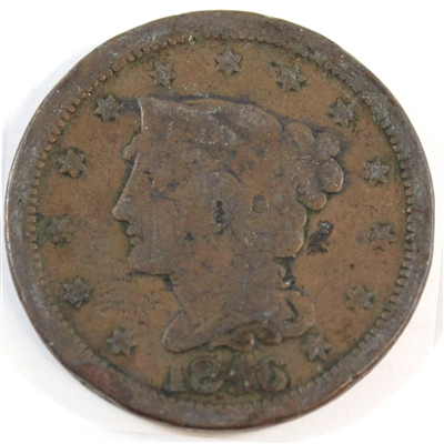 1846 Medium Date USA Cent G-VG (G-6)