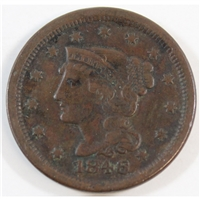 1846 Small Date USA Cent VF-EF (VF-30)
