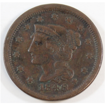 1846 Small Date USA Cent VF-EF (VF-30) $