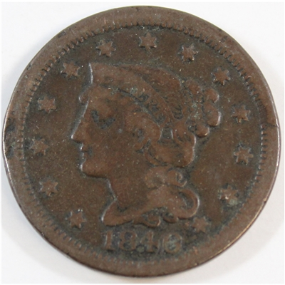 1846 Small Date USA Cent F-VF (F-15)