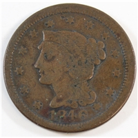 1846 Small Date USA Cent VG-F (VG-10)