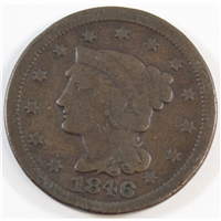 1846 Small Date USA Cent Very Good (VG-8)