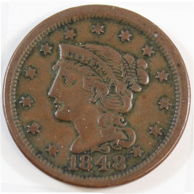 1848 USA Cent VF-EF (VF-30) $