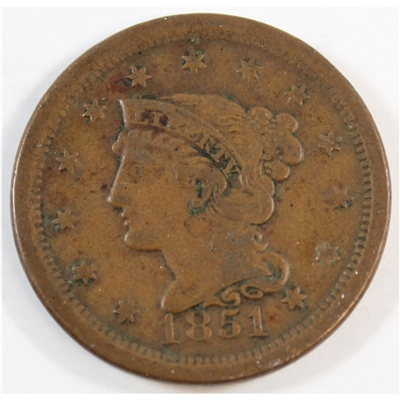 1851 USA Cent Very Fine (VF-20)