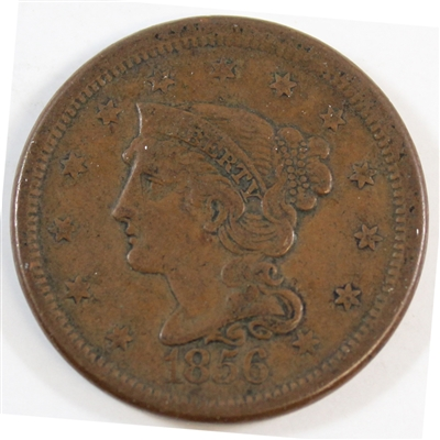 1856 Slanted 5 USA Cent VF-EF (VF-30) $