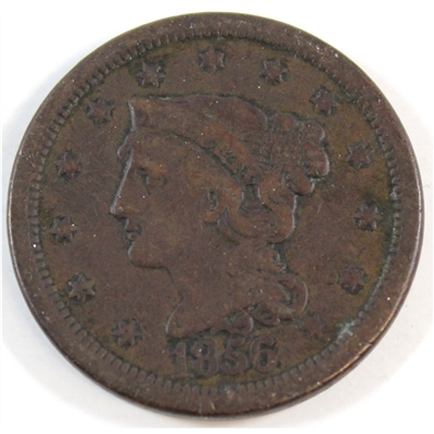 1856 Slanted 5 USA Cent Very Fine (VF-20)