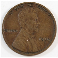 1910 S USA Cent VF-EF (VF-30)