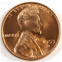 1953 D USA Cent Gem Brilliant Uncirculated (MS-65)