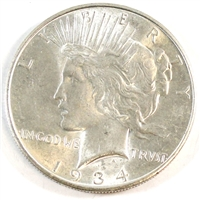 1934 D USA Dollar Choice Brilliant Uncirculated (MS-64) $