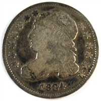 1834 Small 4 USA Dime Very Good (VG-8)