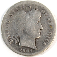 1904 S USA Dime About Good (AG-3)