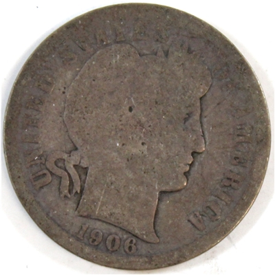 1906 USA Dime About Good (AG-3)