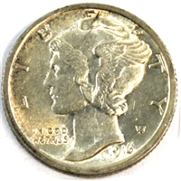 1916 Mercury USA Dime UNC+ (MS-62)