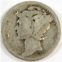 1925 S USA Dime About Good (AG-3)