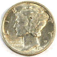 1931 D USA Dime Almost Uncirculated (AU-50)