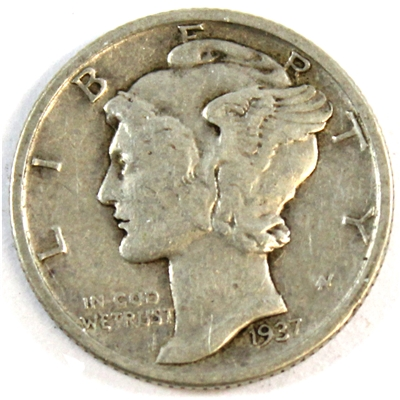 1937 USA Dime VF-EF (VF-30)