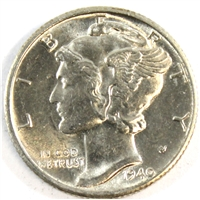 1940 D USA Dime Brilliant Uncirculated (MS-63)