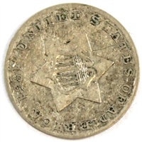 1851 Silver USA 3 Cents Extra Fine (EF-40)