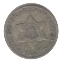 1851 Silver USA 3 Cents F-VF (F-15) $