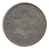 1851 Silver USA 3 Cents VG-F (VG-10)