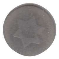 1852 Silver USA 3 Cents Filler