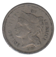 1868 Nickel USA 3 Cents Extra Fine (EF-40)