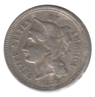 1875 Nickel USA 3 Cents Extra Fine (EF-20)