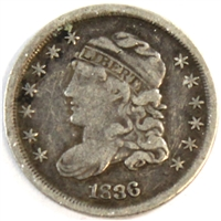 1836 Large 5 USA Half Dime VF-EF (VF-30)