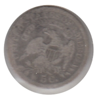 1836 Large 5 USA Half Dime Very Good (VG-8)