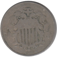 1867 No Rays USA Nickel G-VG (G-6)