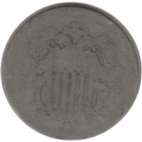 1868 USA Nickel About Good (AG-3)
