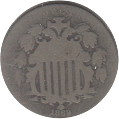 1869 USA Nickel G-VG (G-6)