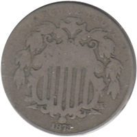 1873 Closed 3 USA Nickel G-VG (G-6)