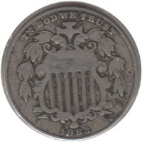 1883 Shield USA Nickel VF-EF (VF-30) $