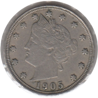 1905 USA Nickel EF-AU (EF-45)