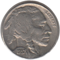 1937 D USA Nickel EF-AU (EF-45)