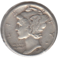 1943 D USA Dime Very Fine (VF-20)