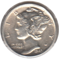 1943 S USA Dime Brilliant Uncirculated (MS-63)