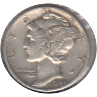 1944 D USA Dime Very Fine (VF-20)