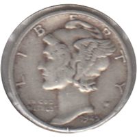 1945 USA Dime Very Fine (VF-20)