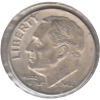 1946 USA Dime Almost Uncirculated (AU-50)