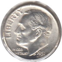1951 USA Dime Choice Brilliant Uncirculated (MS-64)